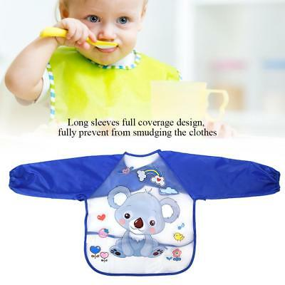 Toddler Kids Baby Cartoon Waterproof Long Sleeve Bibs Feeding Smock Apron Goodis