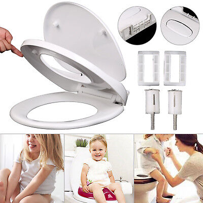 Perfect Toilet Seat Family Kids Potty Training Soft Close Quick Release Hinges