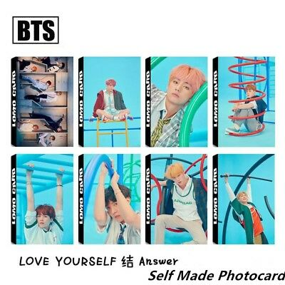 Kpop BTS Love Yourself Answer Paper Lomo Photo Card Collective Photocard Poster