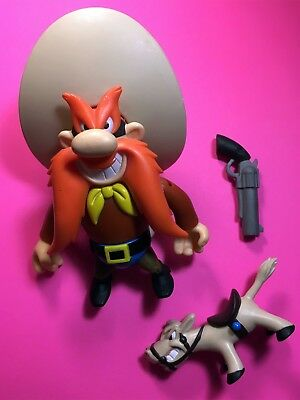 HTF LOONEY TUNES YOSEMITE SAM TRANSFORMING ACTION FIGURE with Horse