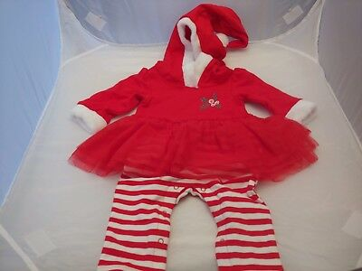 f0861ff6437c4 Cat & Jack Baby Girl Infant Christmas one piece outfit 0-3 Months NWT Santa