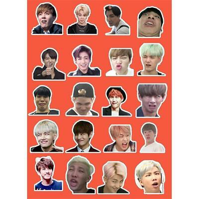 Kpop BTS Cute Expression PVC Photo Sticker for Phone Luggage Laptop DIY Stickers