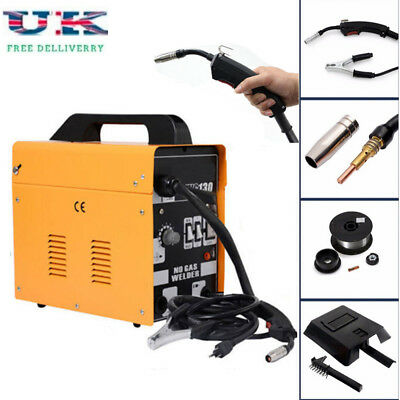 MIG 130 Automatic Feed Spool Wire Torch Welder Welding Machine Kit W/ Mask 230V