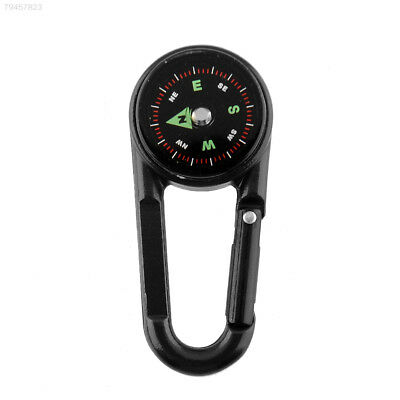 5135 Multifunctional Metal Carabiners Mini Compass Thermometer Keychains For Hik