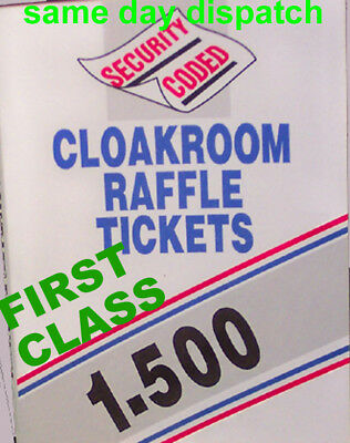 Raffle Cloakroom Tickets Tombola  500 Books Draw Easy Tear Numbered books