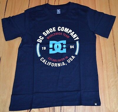 DC Shoes Boys Printed T Shirt - BLUE- SIZE - 10,12,14  & 16 YEARS - NEW