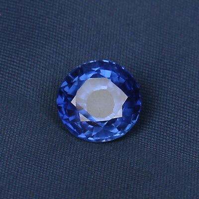 Natural Royal Blue Sapphire 5.45 Ct Round Cut Loose Gemstone Certified