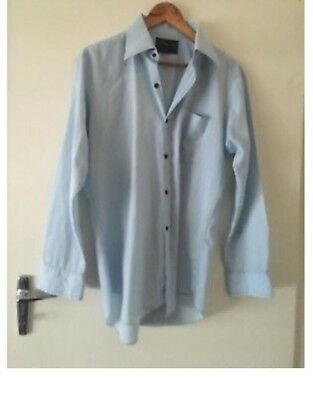 Vintage Monogram Men's Blue Shirt Size 41cm