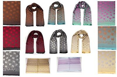 Soft Silky Feel Pashmina  Scarf Wrap,Self Embossed Jacquard Shawl Stole Scarfs