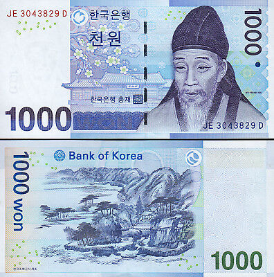 South Korea 1000 Won 2007 , UNC , P-54