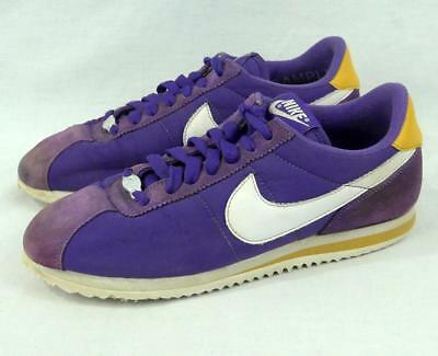 best sneakers acc3c 70eb4 ... authentic nike cortez basic 1972 purple yellow mens sample shoes no  size maybe mens 6.5 fbbec