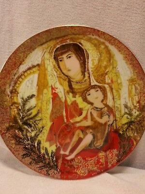 Limited Edition Byzantine Triptych Plates Anna Perenna  set of 2. Mint Condition