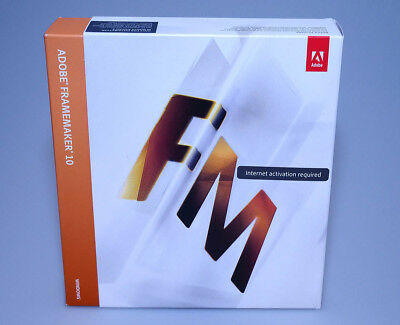 Adobe Framemaker 10 for Windows retail full version GENUINE