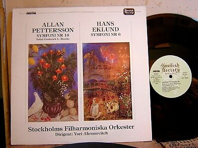 Swedish Society SLT 33270 PETTERSSON SYMPHONY #16 & EKLUND #6 AHRONOVITCH NM