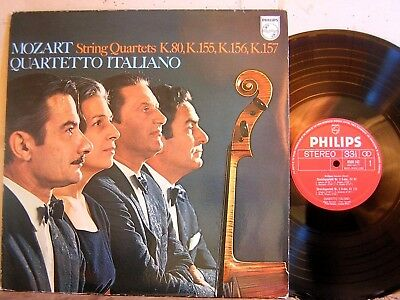 Philips 6500 142 Mozart 4 String Quartet 1-4 Quartetto Italiano VOL 1 VG++ TO NM