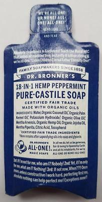 Dr. Bronner's Bronners 18-in-1 Hemp Peppermint Pure-Castile Soap - Sample Size