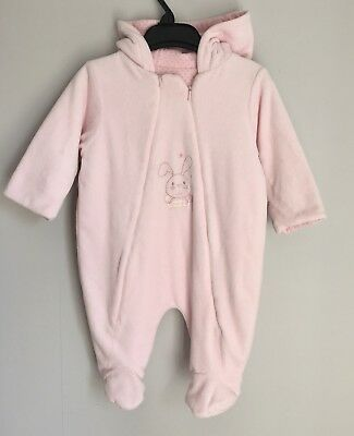 852cb8f8e18b ❤❤MOTHERCARE PINK VELOUR-LINED snowbag 6-9 Months Rrp £30 baby ...