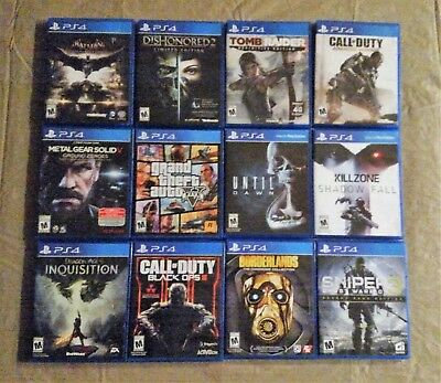 12 Sony playstation 4 ps4 games Pick a Game