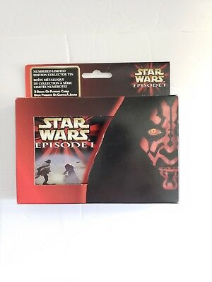 Star Wars Episode 1 The Phantom Menace Limited Edition Playing Cards 2 Decks