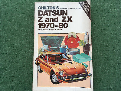 Vintage Chilton's repair & tuneup guide Datsun Z and ZX 1970 to 1980