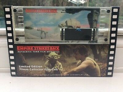 Rare STAR WARS EMPIRE STRIKES BACK 70mm FILM CEL IMPERIAL ATTACK - New & Boxed