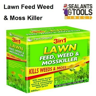 Pestshield 3-in-1 Lawn Grass Feed Fertiliser & Moss And Weed Killer PS0057