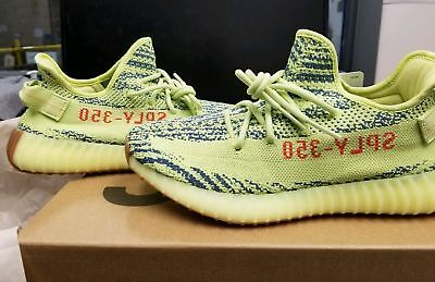 ADIDAS YEEZY BOOST 350 V2 Semi Frozen Yellow B37572 Mens 100% Authentic