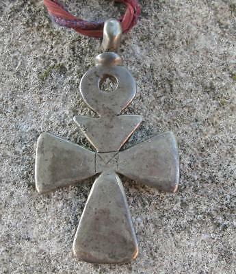 Solid silver crucifix reported as dig find Antiquity Medieval Byzantine ?