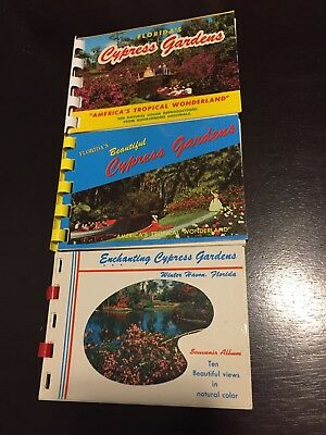 1950's CYPRESS Gardens Winter Haven Mini Post Cards, Photo Book Lot WOW!