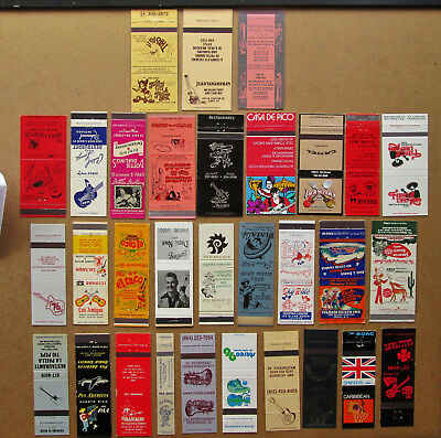31 Diff Guitar, Players, Themed Unstruck Matchcovers
