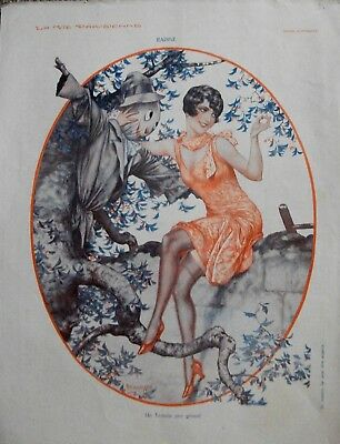 Art Deco Vintage 1930 French Colour Print La Vie Parisienne Good Condition.