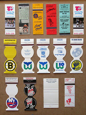 15 Diff Hockey Related, Teams, Schedules, Etc Unstruck Matchcovers