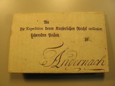 1775 orig. Maut Verordnung Erlaß Frankfurt Post Taxis an Expedition Andernach