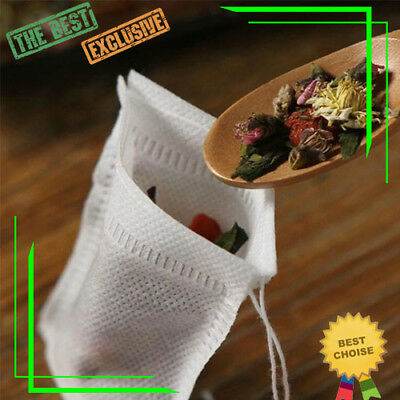 Tea Bags with String Tea Bags 100pcs Corn Fiber Herb Pure Green Disposable Empty