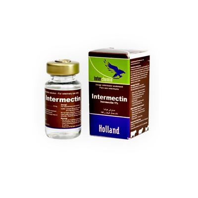 Intermectin 10ML ivermectin 1% DeWormer cattle, sheep, pigs equivalent IVOMEC