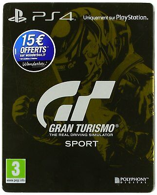 Gran Turismo Sport Edition Spéciale (Steelbook+Jeux ) VF Compatible VR PS4 NEUF