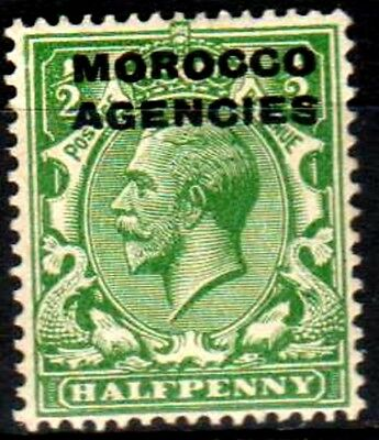 Morocco Agencies:KGV:1925:British Currency,1/2d,Green,Cut Off,'S',Mint.C.£19+