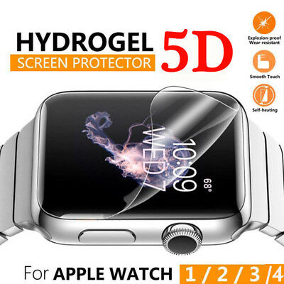 5D Full Cover Hydrogel Screen Protector Film Soft For Apple Watch Series 4 44mm