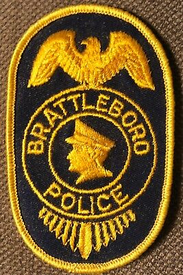 """Brattleboro Vermont Police Shoulder Patch 4.5"""" Tall"""
