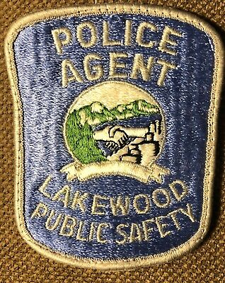 """Vintage Lakewood Public Safety Colorado Police Agent Patch 3.75"""" Tall"""