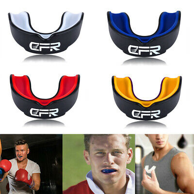 CFR Mouth Guard Teeth Gum Shield Boxing MMA Grinding Sports Rugby Gel MouthPiece