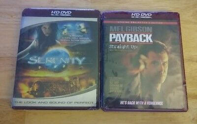 2x Movie HD-DVD Lot Brand New Sealed - Serenity and Payback - Free Shipping!
