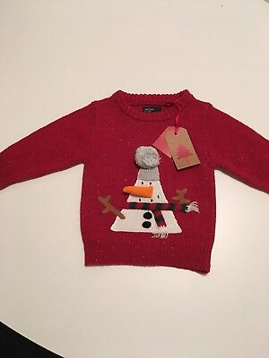 Christmas Xmas Jumper Next 6-9 Months Bnwt