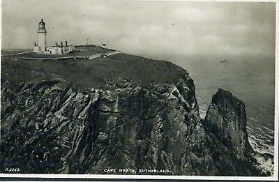 Cape Wrath  Lighthouse. Sutherland.  Scotland. Old Postcard