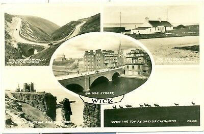 Wick postcard used posted Beauly Invernessshire 1959