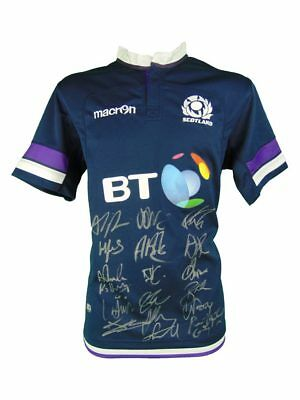 Signed Scotland Rugby Shirt 2018 - Fully Autographed + *certificate*