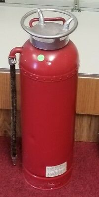 NICE old antique vintage fire extinguisher early 1900's 2.5 gallon copper brass