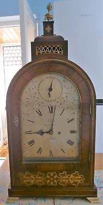 Brass Inlaid Rosewood Double Fusee Bracket Clock by John French Royal Exchange