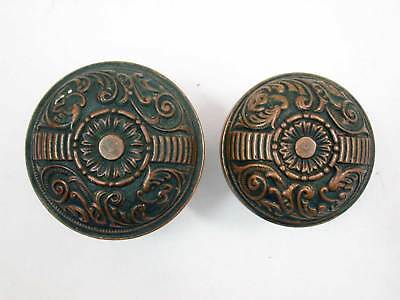Antique Portulaca Pattern Penn Hardware Door Knob Set for Exterior Lock