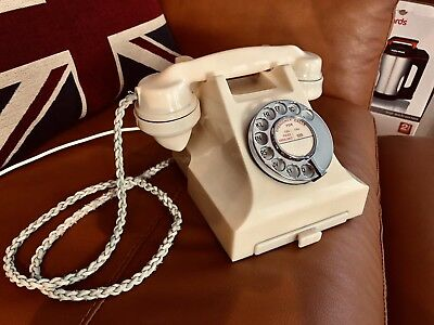 Vintage GPO 332L Ivory Bakelite Telephone (Adapted & Working)